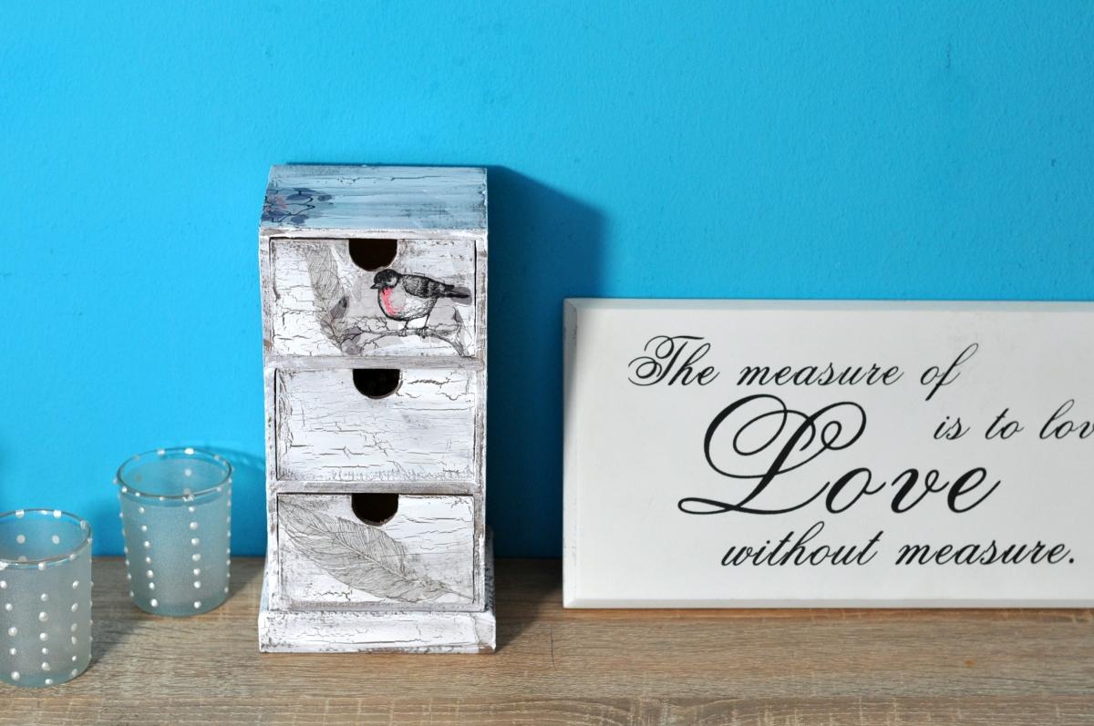 Vom kahlen Sperrholz zum antikem Schmuckstück ! Holzkästchen im Shabby Chic - Look [DIY]